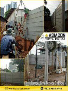 cara pemasangan pagar panel beton