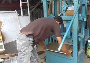 mesin paving block semi otomatis