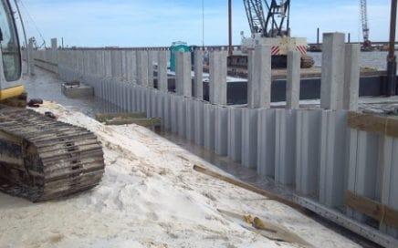 turap beton atau sheet pile