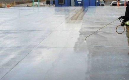 curing beton basah
